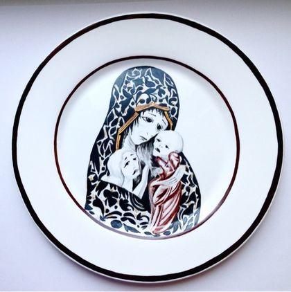 """Тарелки ручной работы. Ярмарка Мастеров - ручная работа. Купить Блюдо """"Агитфарфор"""". Handmade. Блюдо с росписью, обеденные тарелки"""