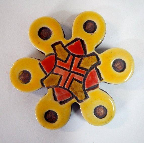 One Southwestern Mosaic/Coaster Tile by Uturn on Etsy, $5.00