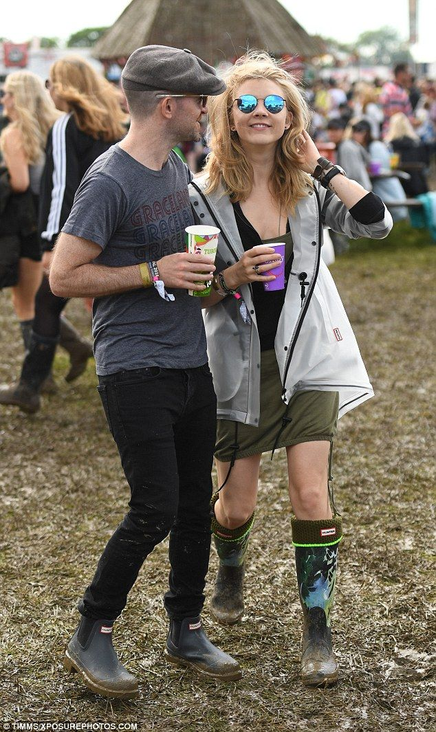 A long way from King's Landing! Game of Thrones star Natalie Dormer rocks mini dress and wellies as she enjoys muddy Glastonbury with fiance Anthony Byrne | Daily Mail Online