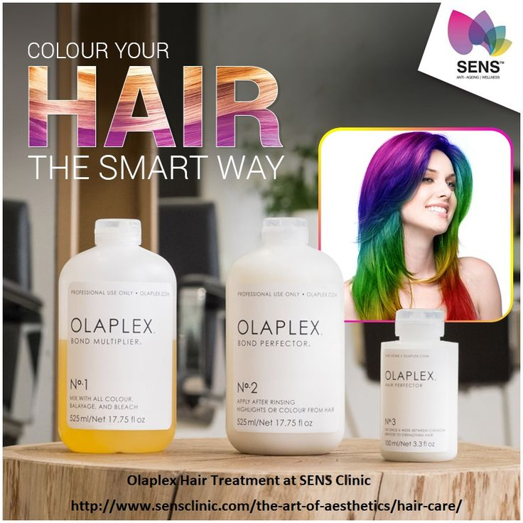 If you want to look beautiful then color your hair the smart way with Olaplex Hair Treatment at SENS Clinic.