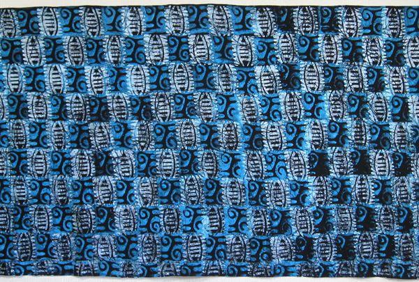 手染めバティック生地(ろうけつ染め)・ガーナ<アフリカの布
