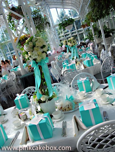 Tiffany blue decorations   #tiffanys  #aqua #turquoise     Ideas & inspiration curated and collection by @Party Design Shop