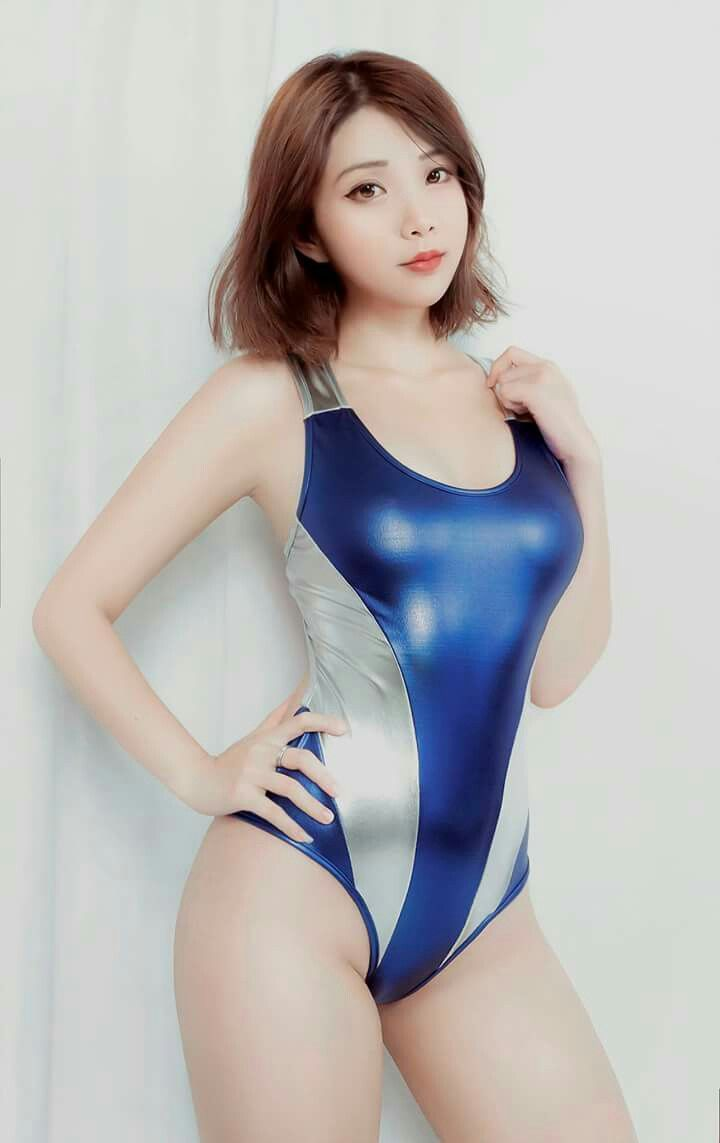 image Sexy latex swimsuit asian