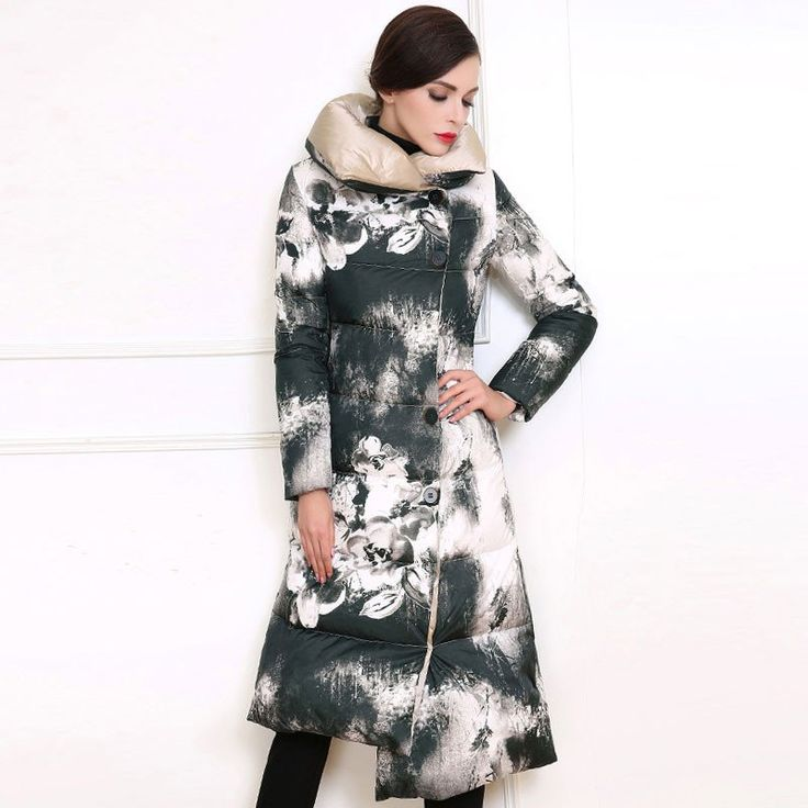 5th Avenue Long Single Breasted Down Filled Maternity Coat - Plus Sizes