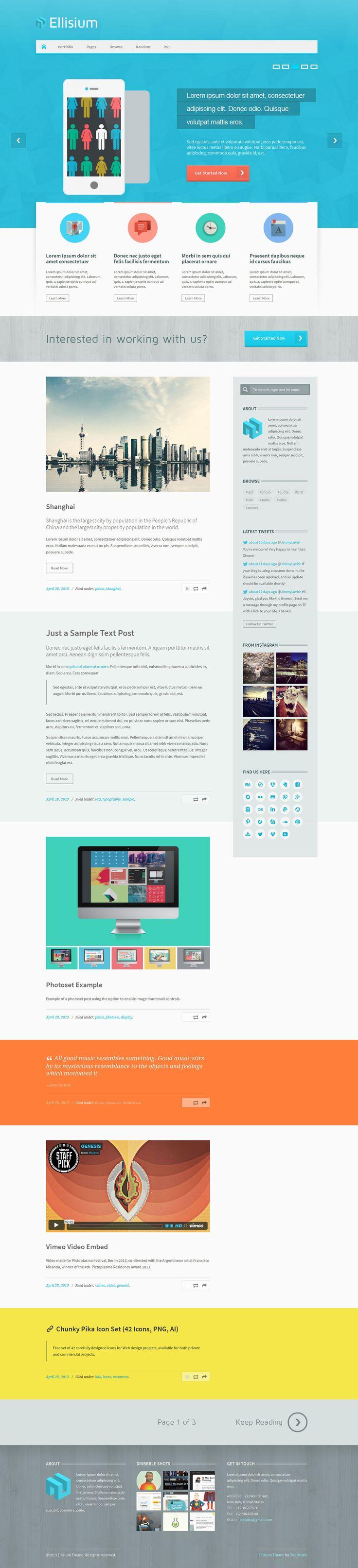 Ellisium- Stylish Tumblr theme - #tumblr #theme #tumblrtheme #design #webdesign #creative #inspiration