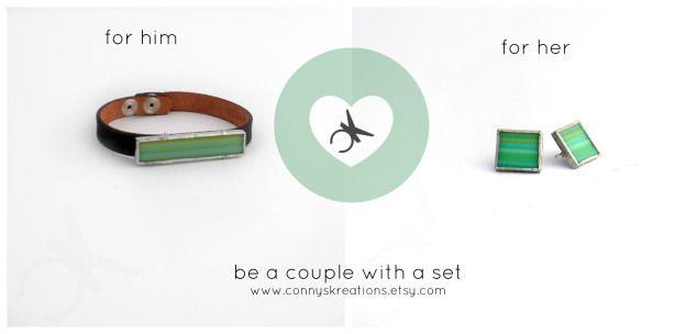 San Valentino set verde #setforlovers #valentinesdaygift #earringsandbracelet