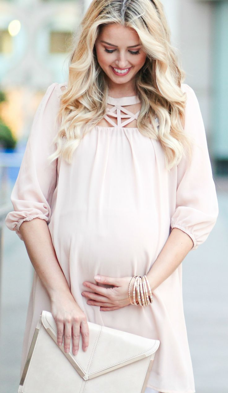 Date night looks for every trimester. An elegant maternity dress to a casual movie night maternity top, we have the right look to flatter your bump