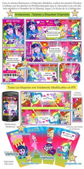 Kit Imprimible My Little Pony Equestria Girls, invitaciones My Little Pony Equestria Girls, cajitas, wrappers, My Little Pony Equestria Girls png,fondos