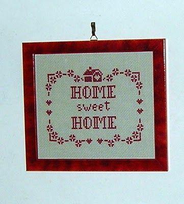 IL FILO CHE CREA: Quadretto a punto croce Home sweet home