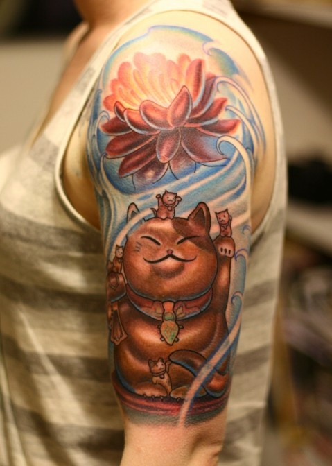 17 best images about tattoo art on pinterest cats lucky cat tattoo and koi fish tattoo. Black Bedroom Furniture Sets. Home Design Ideas