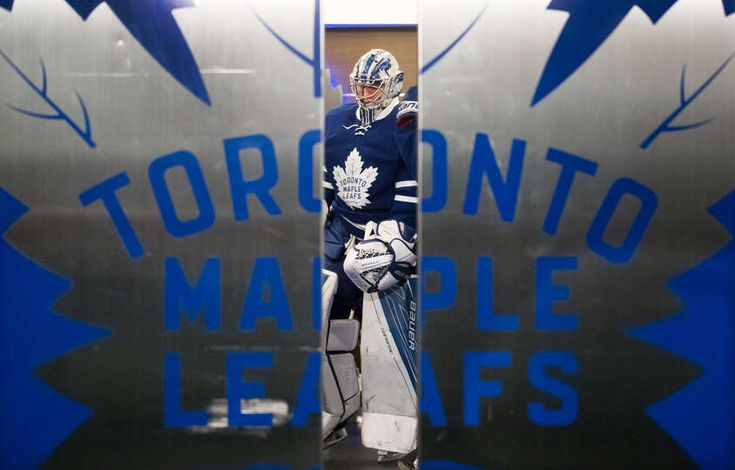 TORONTO, ON - FEBRUARY 23: Frederik Andersen #31 of the Toronto Maple Leafs prepares to take the ice for warm up as the dressing room doors close, before the Leafs take on the New York Rangers at the Air Canada Centre on February 23, 2017 in Toronto, Ontario, Canada. (Photo by Mark Blinch/NHLI via Getty Images)