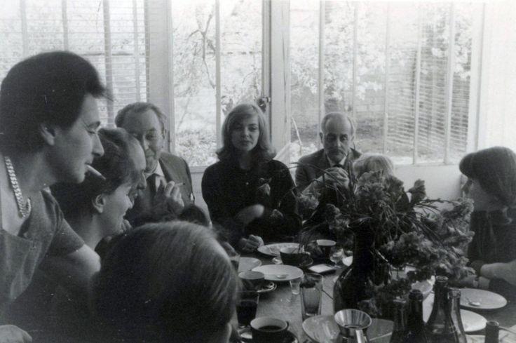 """Kultura"" Literary Institute in Maisons Laffitte, Easter 1960, among others Barbara Kwiatkowska (Lass), Jerzy Giedroyc. Photo by Henryk Giedroyc"