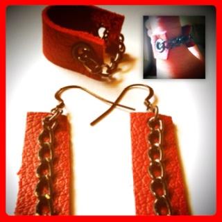 Indigirl designs leather ring & earrings...  I love Indigirl jewellery!
