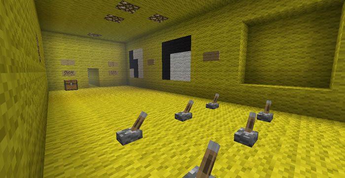Descargue gratis los fondos de pantalla del primer mapa puzzle del juego Minecraft llamado Woolington