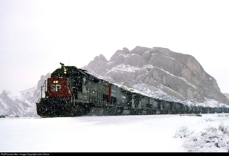 RailPictures.Net Photo: SP 8337 Southern Pacific Railroad EMD SD40T-2 at Mormon Rocks, California by John Shine
