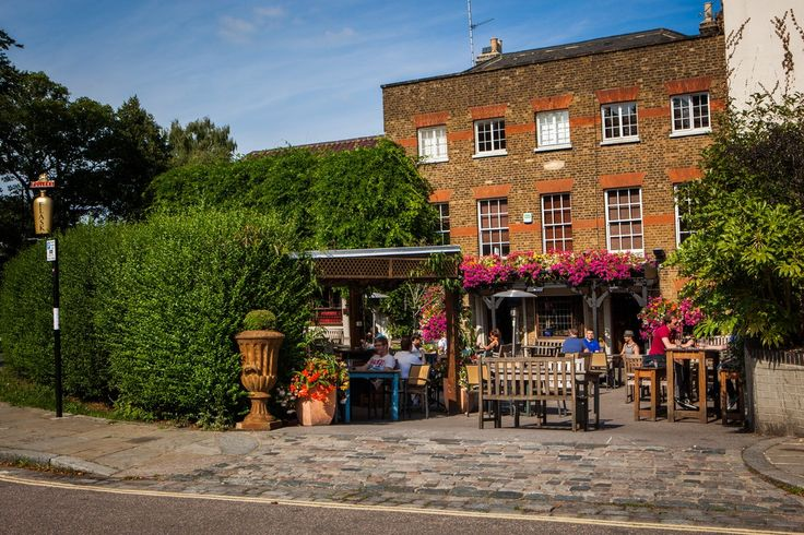 The Flask, Highgate Village. Outside here in the summer is what British summers are about
