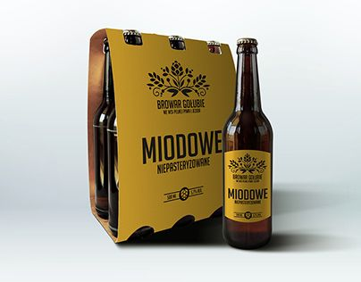 """Check out new work on my @Behance portfolio: """"Gołubie Brewery"""" http://on.be.net/1jZwusv // graphic design logo packaging  bottle label beer brewery //"""