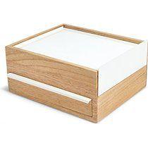Umbra 290245-668 Stowit Boîte à Bijoux Bois Blanc/Naturel 25,63 x 21,84 x 12,55 cm