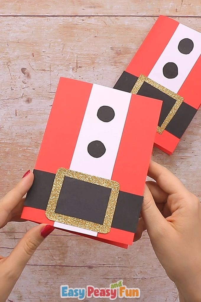 Simple Santa Christmas Card Christmas Ideas Happy Christmas Christmas Cards Handmade Diy Christmas Card Crafts Christmas Cards Handmade