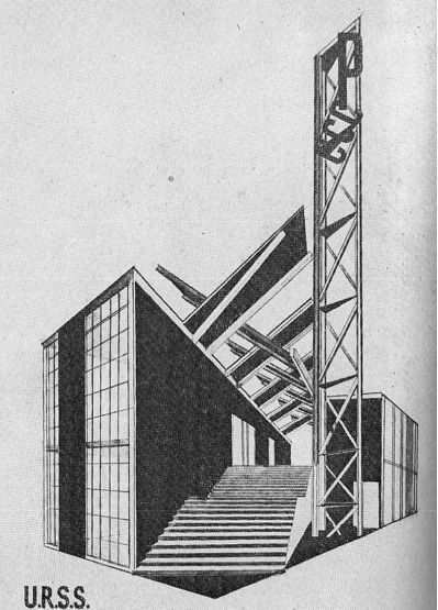 Chapter 26: USSR Pavilion in Paris, France in 1925. Published in Exposition Internationale des Arts Decoratifs et Industriels Mondernes.