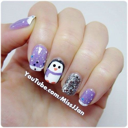 13 best christmas penguin nail art designs images on