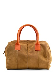 TOUCH leather bowling handbag