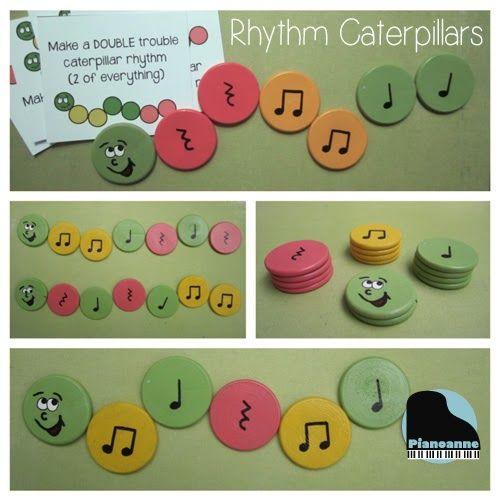 Pianoanne's Caterpillar Rhythms look like fun!