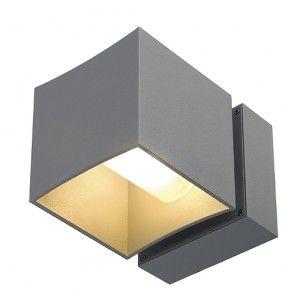 SQUARE TURN HIT-TC Wand- leuchte, zilvergrijs, GU6,5, 20W