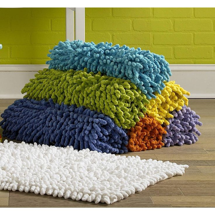 Yellow Bathroom Mat Sets