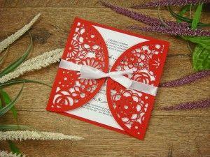 zaproszenia weselne z kolekcji Koronka z Kwiatów wzór 19