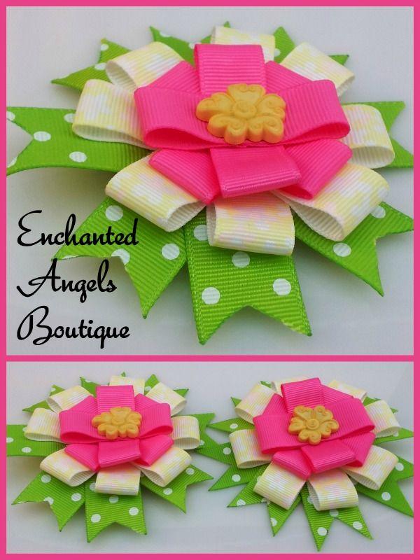 Ribbon Flower Set by Enchanted Angels Boutique  www.facebook.com/EnchantedAngelsBoutique