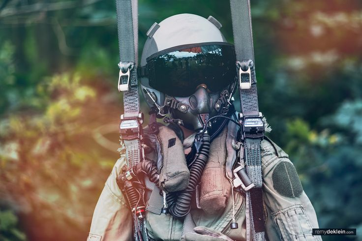 Jetfighter pilot hanging on parachute  #jetfighter #pilot #parachute #photography #remydeklein