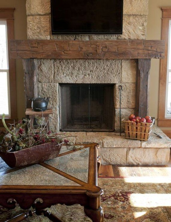 Rustic Full Mantel Made From 8 X 8 Wood Beam Fireplace Mantel Shelf With Legs Real Pine Beam Rustic Fireplace Mantels Home Fireplace Rustic Fireplaces