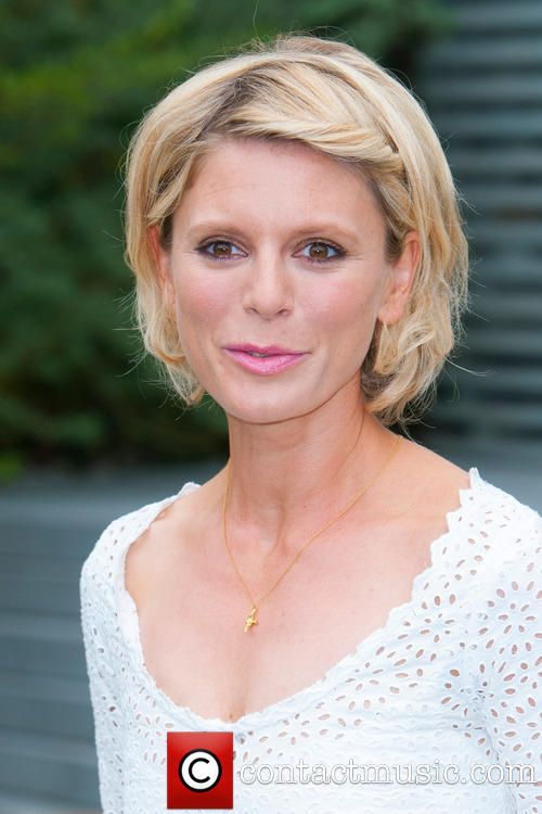 Emilia Fox, Chelsea Flower Show wearing Alex Monroe Flying Swallow Necklace