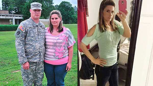Army Wife Surprises Husband With 96-Pound Weight Loss on His Return From Iraq