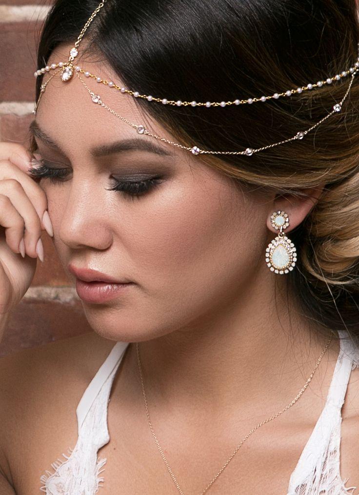 Maria Opal & Moonstone Earrings