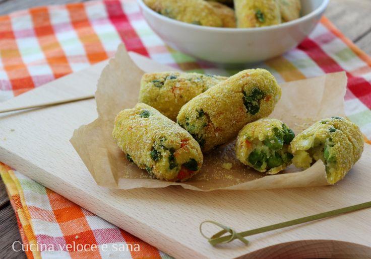 Crocchette+di+patate+e+verdure+al+forno