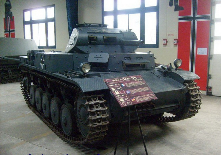 The Panzer II was the common name for a family of German tanks used in World War II. The official German designation was Panzerkampfwagen II (abbreviated PzKpfw II). Although the vehicle had originally been designed as a stopgap while more advanced tanks were developed, it nonetheless went on to play an important role in the early years of World War II, during the Polish and French campaigns...