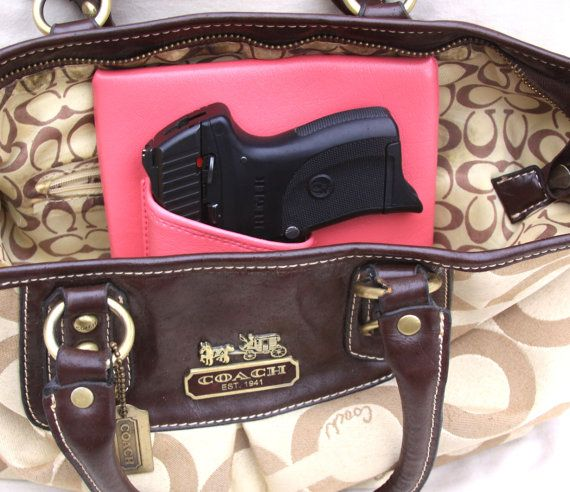 Small Auto Laser Purse Holster Pink Concealed by CreativeConceal