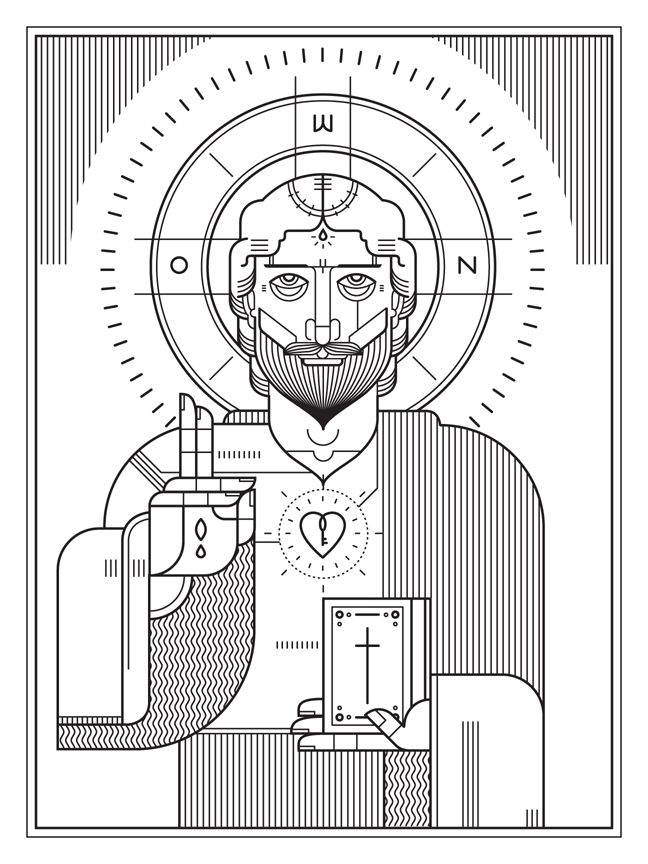 Eastern Orthodox inspired illustration from Ryan Clark