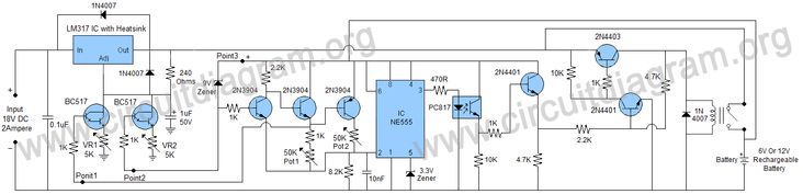 6V & 12V Battery Charger With Auto Battery Detect Function