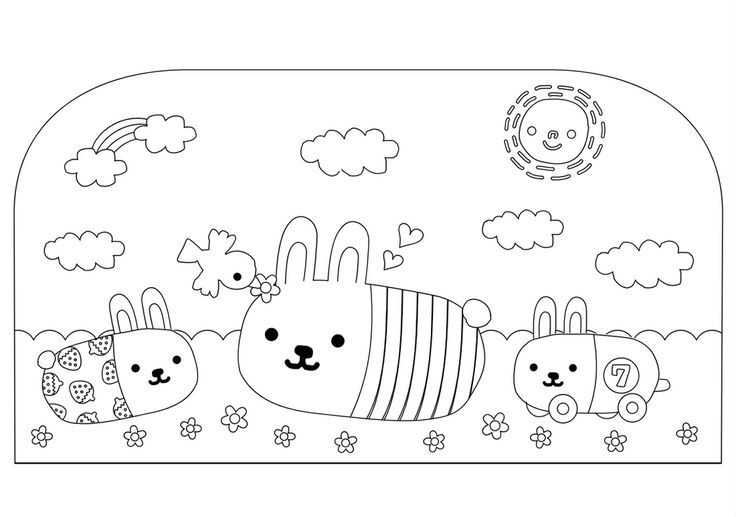 Moshi moshi kawaii coloring pages