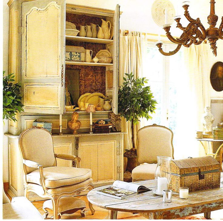 694 best french provincial home interiors images on for French country style living room