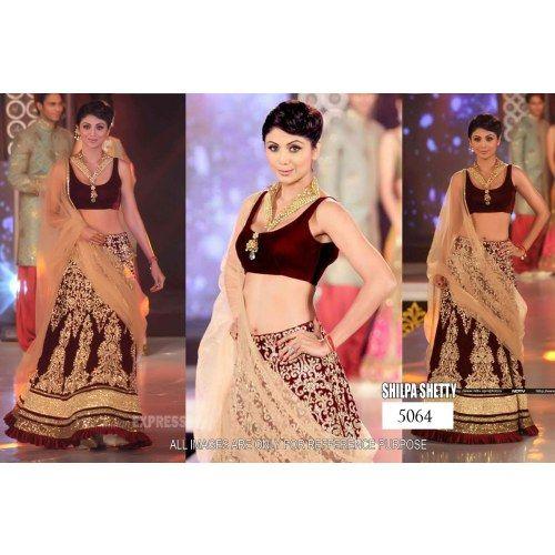 Designer Indian Traditional Ethnic  Bollywood Replica Shilpa Shetty Heavy Bridal Lehenga- Online Shopping for Lehengas by Ethnictrend