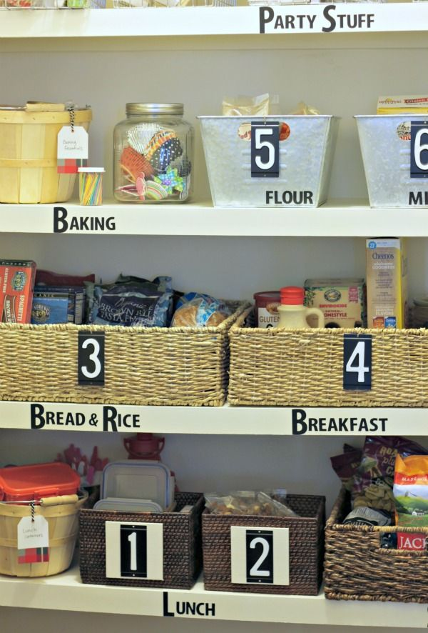 Simple Tips For Pantry Organization Label With