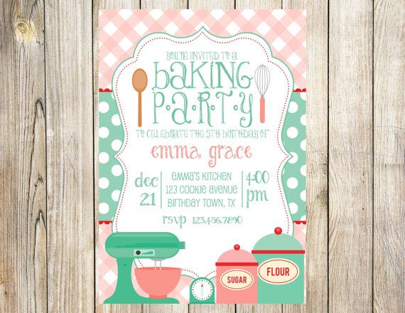 Bake+Birthday+Party+Invitation+by+EmmyJosParties+on+Etsy,+$12.00