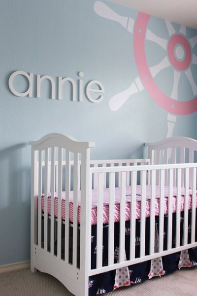 girl's nautical nursery---some reason I just fell in love with this room