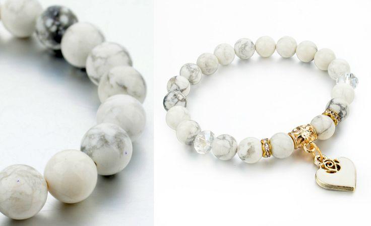 Gioielli Donna Economici   Il punto di focalizzazione sono le vostre mani, e l'opzione più azzeccata sono i bracciali in stile boho. Per me il modello perfetto è un bracciale comodo con perle di marmo bianco.