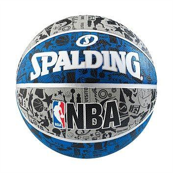 Rebel Sport - Spalding NBA Graffiti Outdoor Basketball Blue 7
