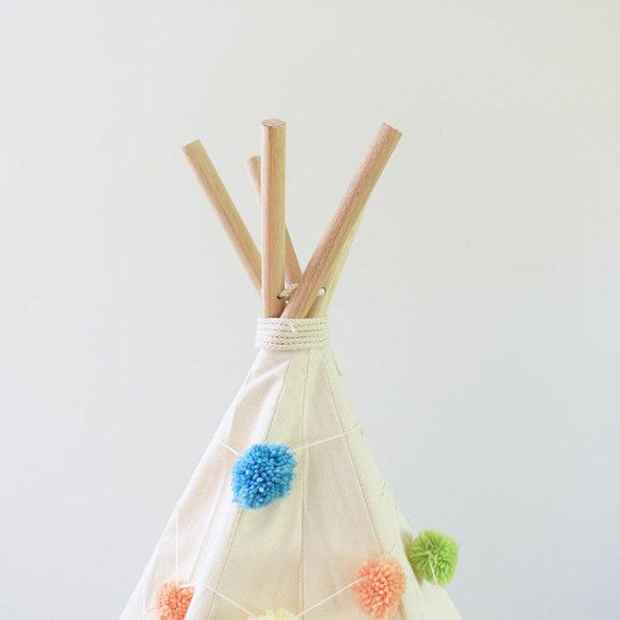 Kids Pom Pom TeePee - Kargow.com - Find the world's most creative sellers.